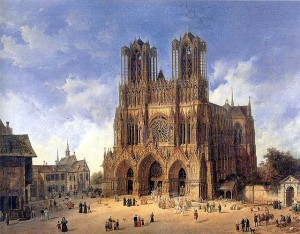 Cathedrale de Reims Domenico_Quaglio_(1787_-_1837)
